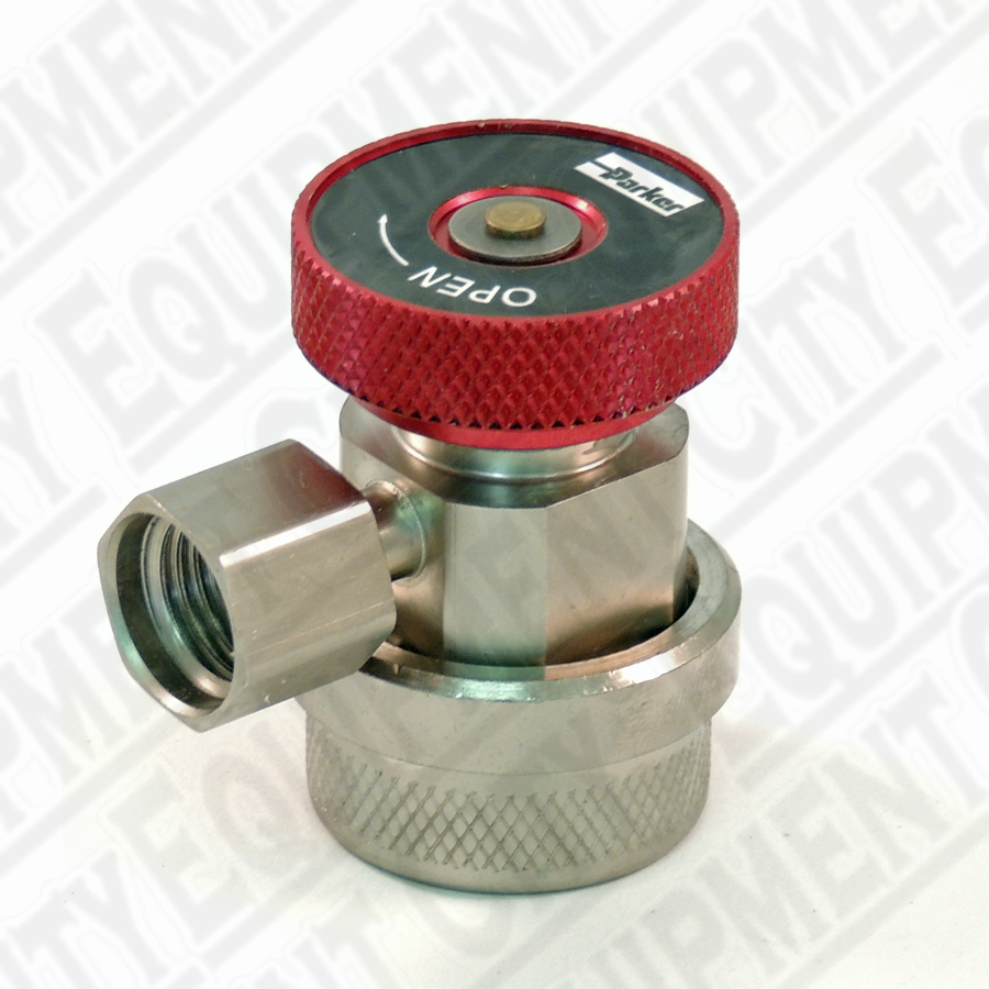 Robinair 18191A R-134a High Side Service Coupler with Red Actuator