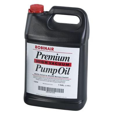 13204 ROBINAIR ONE GALLON PREMIUM VACUUM PUMP OIL. BY THE CASE