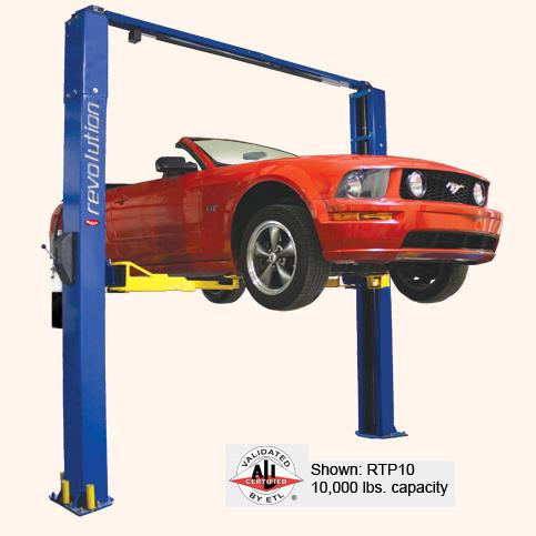 Rotary RTP10 Revolution 2-Post Lift 3-Stage RA Arms