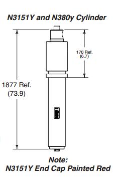 Rotary N380Y-9180 SEAL KIT FOR N380Y CYLINDER