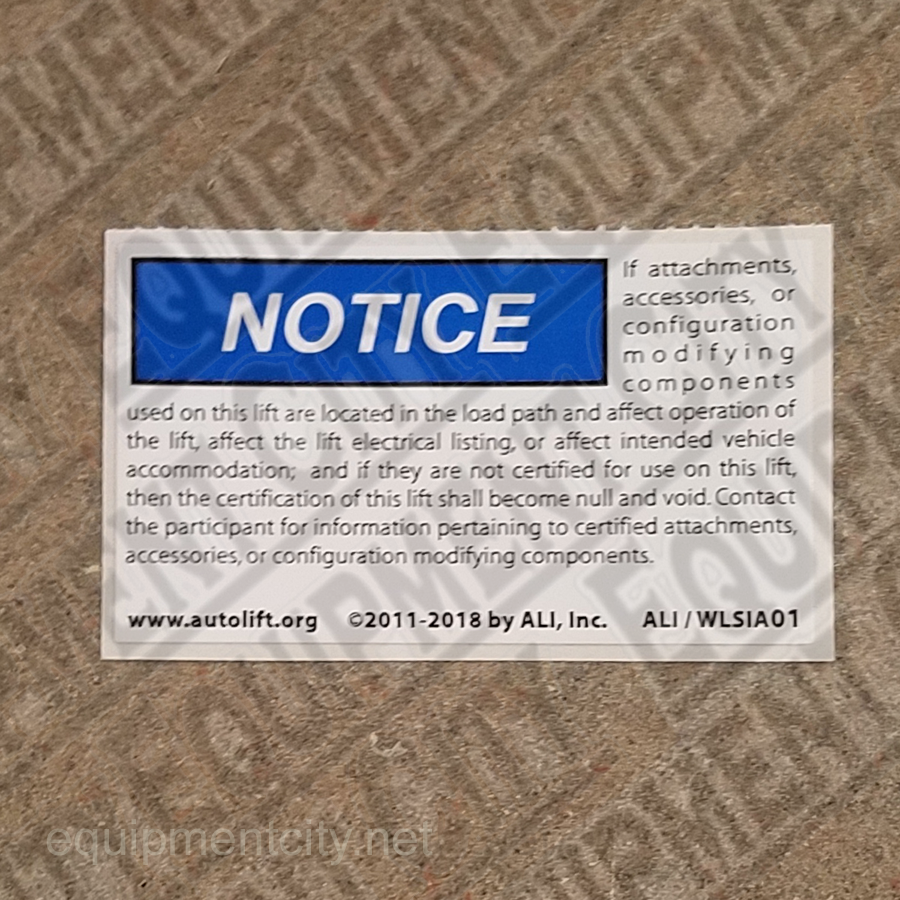 Rotary NP865 ALI/WLSIA01 SAFETY INSTRUCTIONS - Included in FA5203KIT