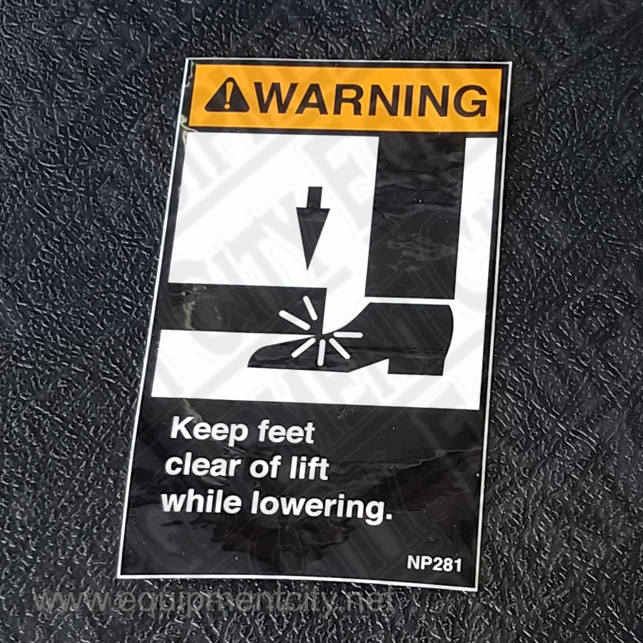 Rotary NP253 KEEP FEET CLEAR WARNING - Included in FA5203KIT and FC524-5 | Replaces NP281