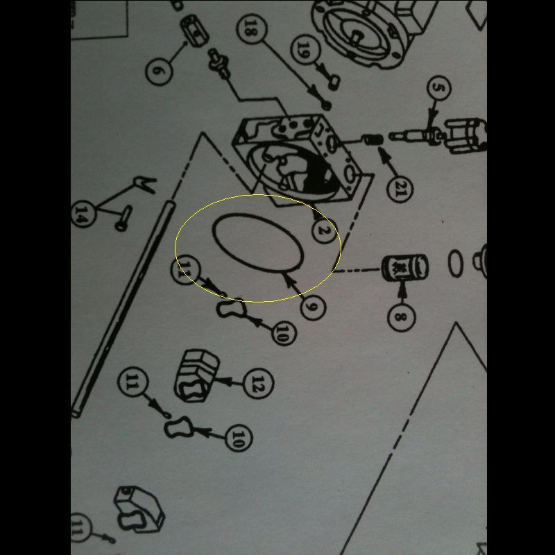SVI BH-7004-10 Fenner 1140-BA Reservoir Gasket