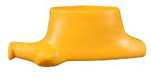 SVI BW-1010-08Y Yellow Mount / Demount Head / Shoe with Round Hole