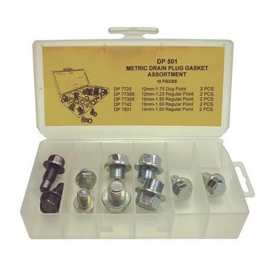 DP501 TMR METRIC DRAIN PLUG ASSORTMENT (10 PCS)