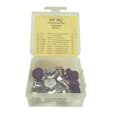 DP502 TMR TOP 10 DRAIN PLUG ASSORTMENT (10 PCS)