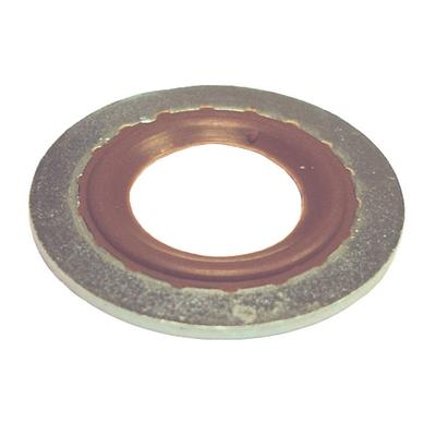 DP7000-100 TMR METAL AND RUBBER GASKET 12MM CRIMPED, (BROWN) GM