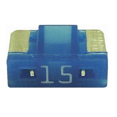 FU089015-10 TMR LOW PROFILE MINI 15 AMP BLADE FUSE BLUE (10 PER