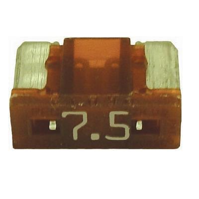 FU08907.5-10 TMR LOW PROFILE MINI 7.5 AMP BLADE FUSE BROWN (10 P