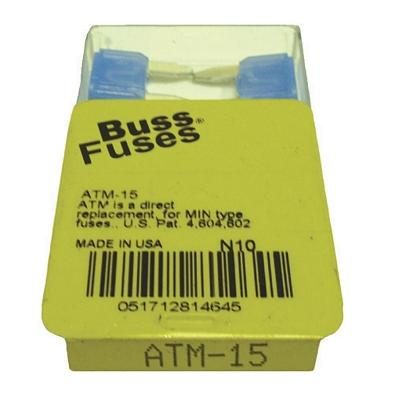 FU15BXM TMR MINI 15 AMP BLADE FUSE (100 PER BOX - 20 BOXES OF 5)