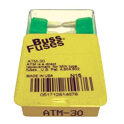 FU30BXM TMR MINI 30 AMP BLADE FUSE (100 PER BOX - 20 BOXES OF 5)
