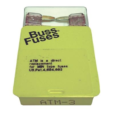 FU3BXM TMR MINI 3 AMP BLADE FUSE (100 PER BOX - 20 BOXES OF 5)