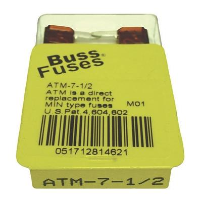 FU7.5BXM TMR MINI 7.5 AMP BLADE FUSE (100 PER BOX - 20 BOXES OF