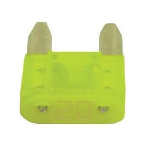 FUATM20-100 TMR MINI 20 AMP FUSE YELLOW (100 PER BAG)