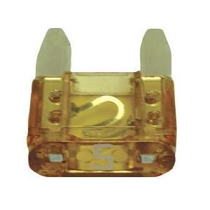 FUATM5-100 TMR MINI 5 AMP FUSE LIGHT BROWN (100 PER BAG)