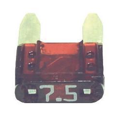 FUATM7.5-100 TMR MINI 7.5 AMP FUSE BROWN (100 PER BAG)