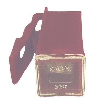 FULPMIN50 LOCKING FEMALE MINI PAL 50 AMP FUSE RED(Bag of 10)