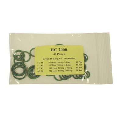 HC2000 TMR GREEN HOSE FITTING O-RING KIT (40 PCS)