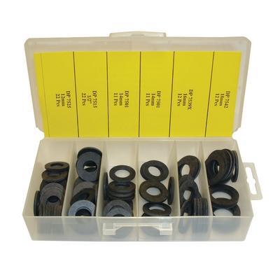 OPK1064 TMR FIBER DRAIN PLUG GASKET ASSORTMENT (90 PCS)