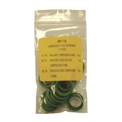 OPK128 TMR COMPRESSOR GREEN O-RING KIT (24 PCS)
