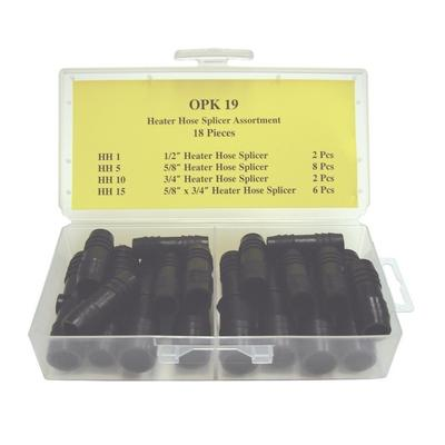 OPK19 TMR HEATER HOSE SPLICER ASSORTMENT (18 PCS)