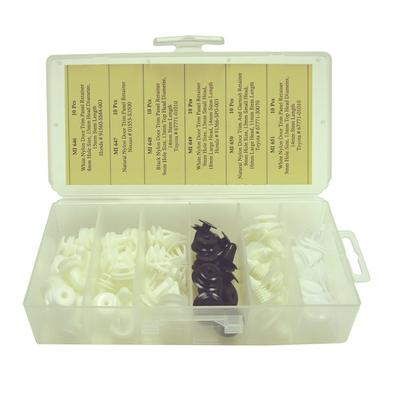 OPK24 TMR IMPORT DOOR TRIM PANEL RETAINER ASSORTMENT (60 PCS)