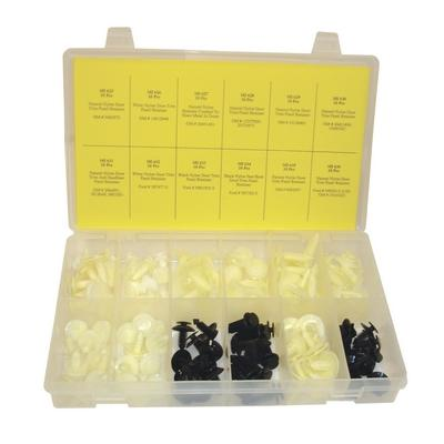 OPK27 TMR DOMESTIC DOOR TRIM PANEL RETAINER ASSORTMENT (120 PCS)