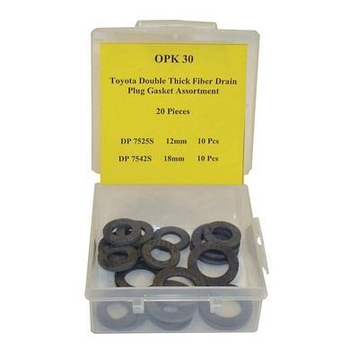 OPK30 TMR DOUBLE THICK FIBER DRAIN PLUG GASKET ASSORTMENT (20 PC