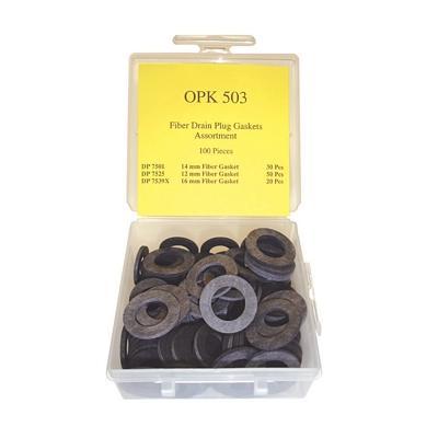 OPK503 TMR FIBER DRAIN PLUG GASKET ASSORTMENT (100 PCS)