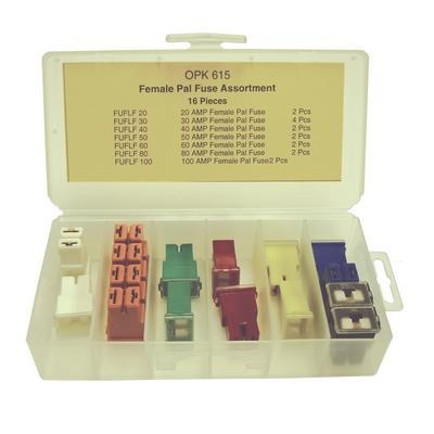 OPK615 TMR FEMALE PAL FUSE ASSORTMENT (16 PCS)