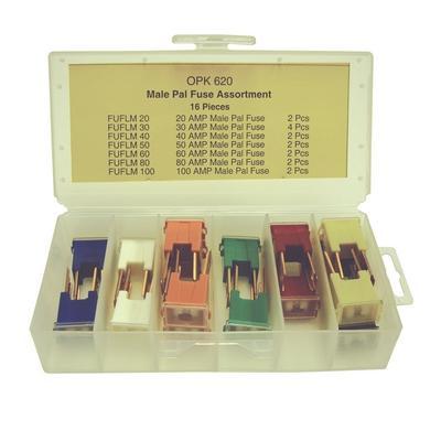 OPK620 TMR MALE PAL FUSE ASSORTMENT (16 PCS)