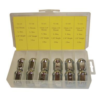 OPK63 TMR BULGE ACORN CHROME LUG NUT ASSORTMENT (12 PCS)