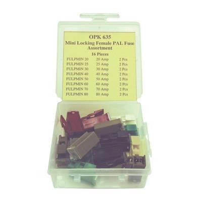 OPK635 TMR LOCKING FEMALE PAL FUSE ASSORTMENT (16 PCS)