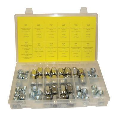 OPK67 TMR CHROME LUG NUT ASSORTMENT (52 PCS)