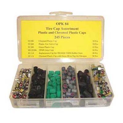 OPK84 TMR TIRE CAPS - PLASTIC AND CHROMED PLASTIC CAPS (245 PCS)