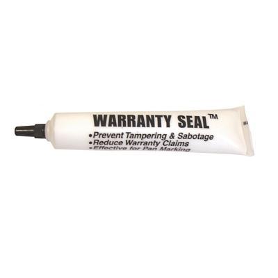 WS25W TMR WHITE WARRANTY SEAL 1.8 OZ POLY SQUEEZE TUBE WARRANTY