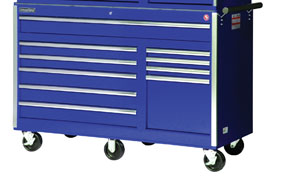 SPG International 56 Inch 10 Drawer Blue Tool Cabinet